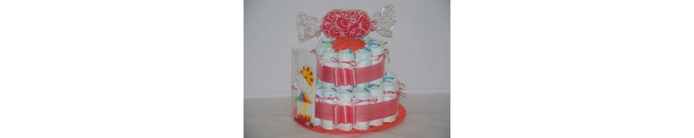 Comprar tarta de pañales dos pisos, regalo nacimiento